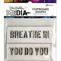 Dina Wakley - Chipboard Shapes - Speak Out